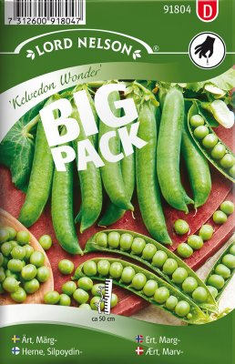 Ärt, Märg-, Kelvedon Wonder, Big Pack